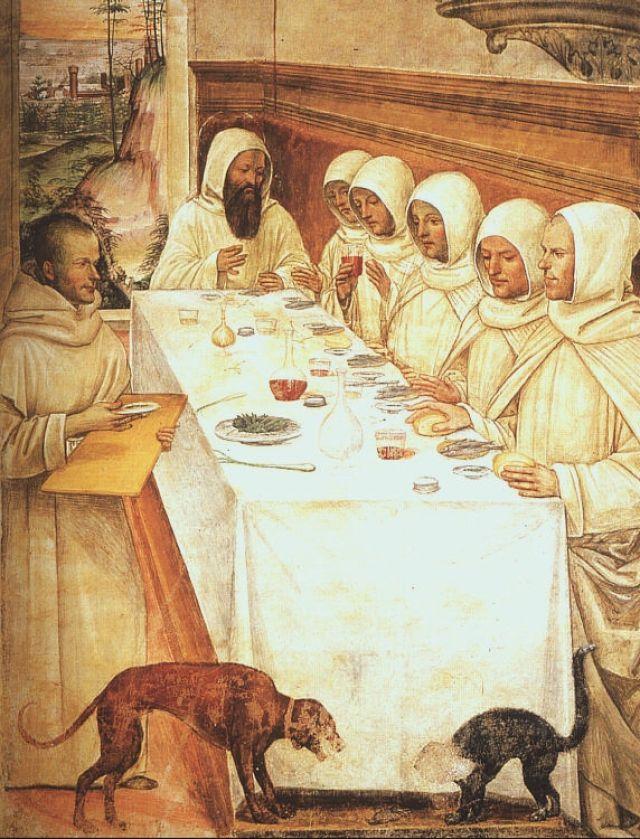San Benedeto e monaci - G.A.Bazzi detto Il Sodoma (15O5 ca.)