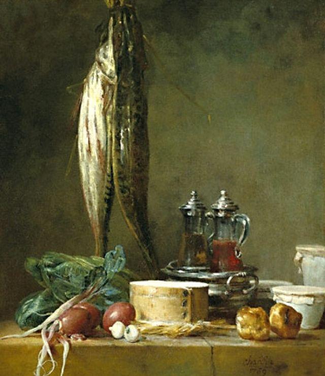 Natura morta con olio e aceto - J.B.S. Chardin (1769)