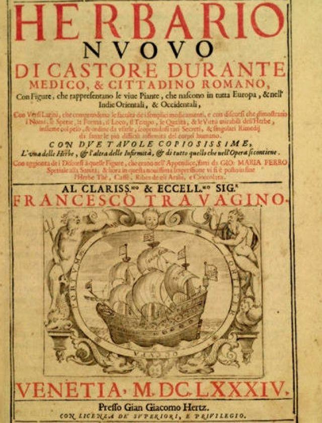 Herbario novo - Castor Durante (1529-1590)