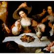 """Il  vino complice del piacere ne """"I Cinque Sensi""""  di  Jan Cassiers"""