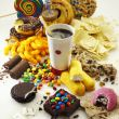 Gusto junk food costruito con zuccheri, sale e grassi